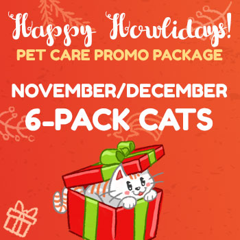 Happy Howlidays November-December 6 Pack Cats