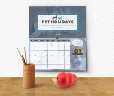 Pet holidays calendar