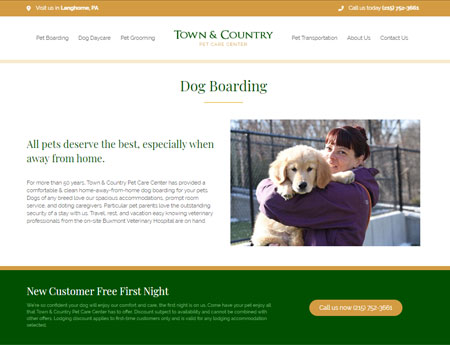 Town and Country Boarding Page