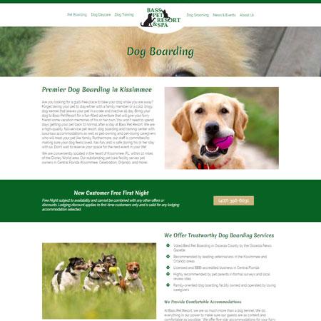 Bass Pet Resort Website