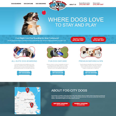 Fog City Dogs Website