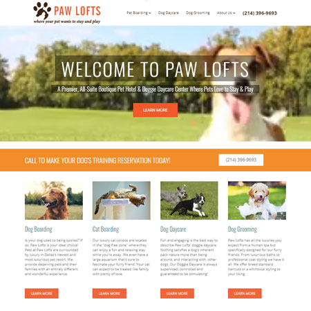 Paw Lofts Website