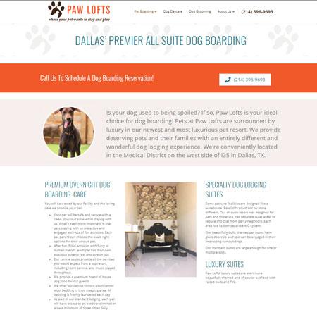 Paw Lofts Website