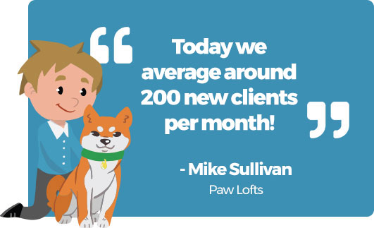Today they average around 200 new clients per month
