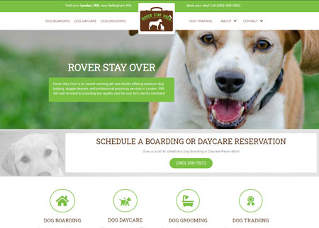 Rover Stay Over website