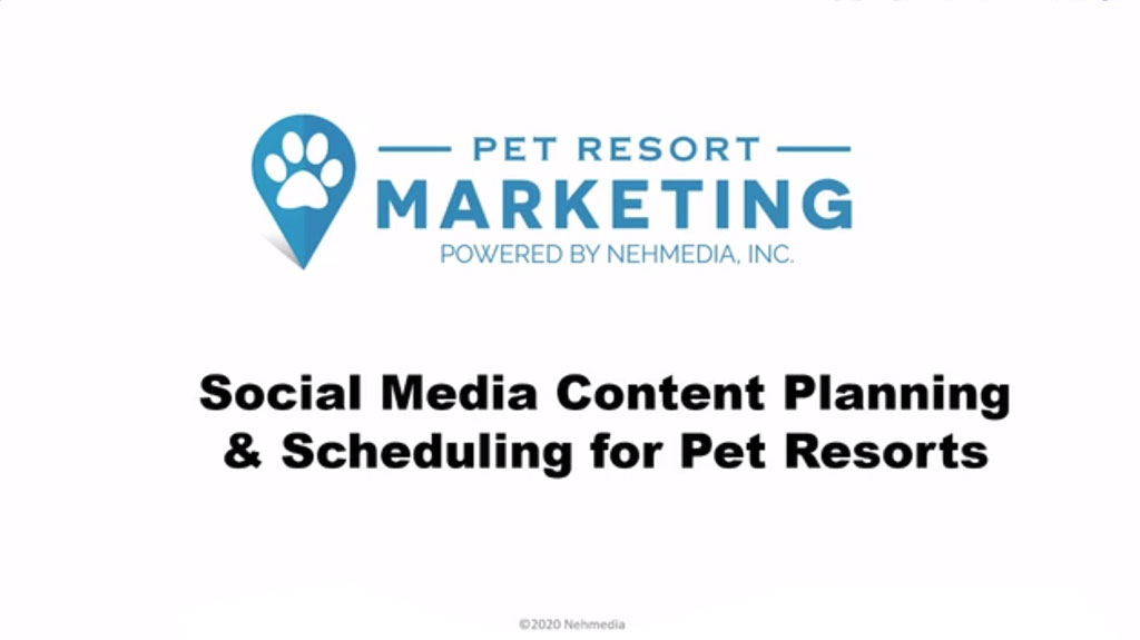 Social Media Content Planning and Scheduling for Pet Resorts