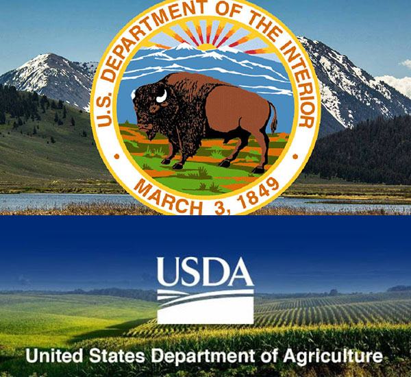 USDI and USDA logos