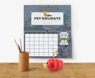 2021 Pet Resort Marketing Pet Holidays Calendar
